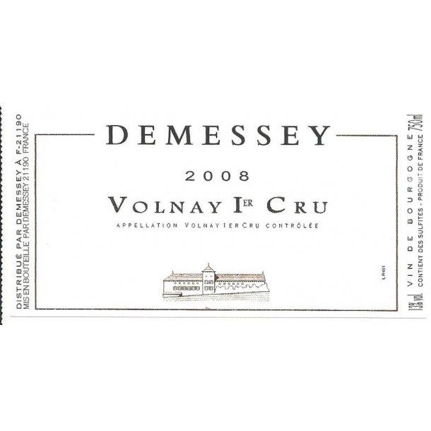 Domaine Demessey Volnay 1.cru årgang 2008