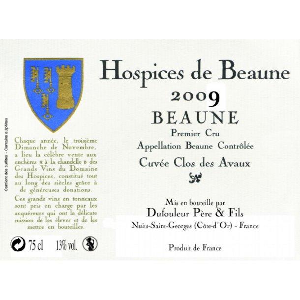 Hospices de Beaune Beaune 1.cru Cuvée Clos des Avaux årgang 2009