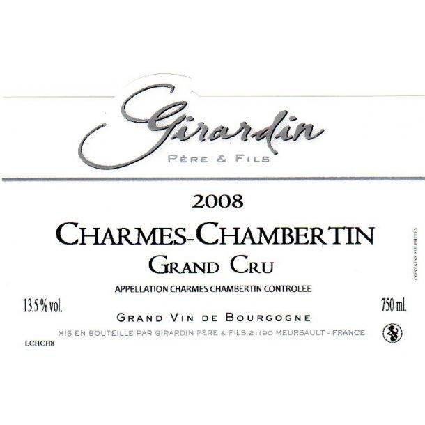 Domaine Girardin Père & Fils Charmes-Chambertin Grand Cru årgang 2008