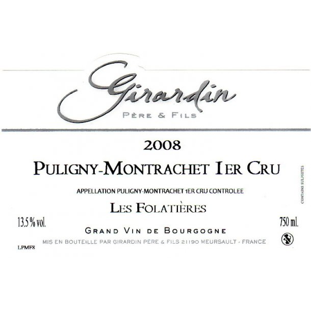 Domaine Girardin Père & Fils Puligny-Montrachet 1.cru