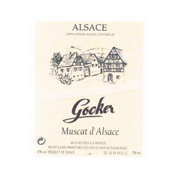 Domaine Philippe Gocker Alsace Muscat d´Alsace årgang 2008